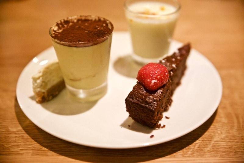Desserts at Obicà Restaurant, St Paul's, London