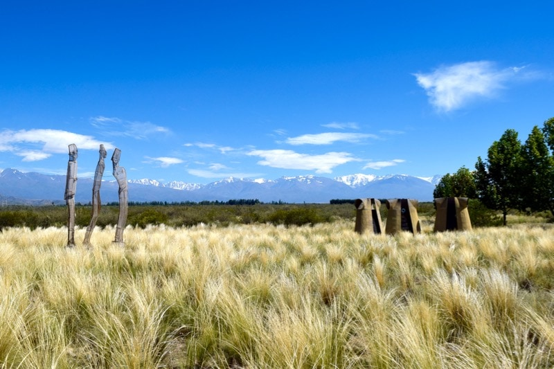 Sculptures outside Salentein Winery, Uco Valley