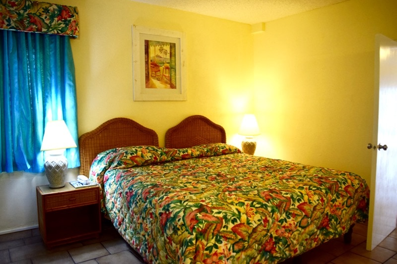 Bedroom at Timothy Beach Resort, St Kitts