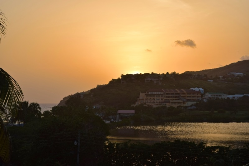 Sunset at Timothy Beach Resort, St Kitts