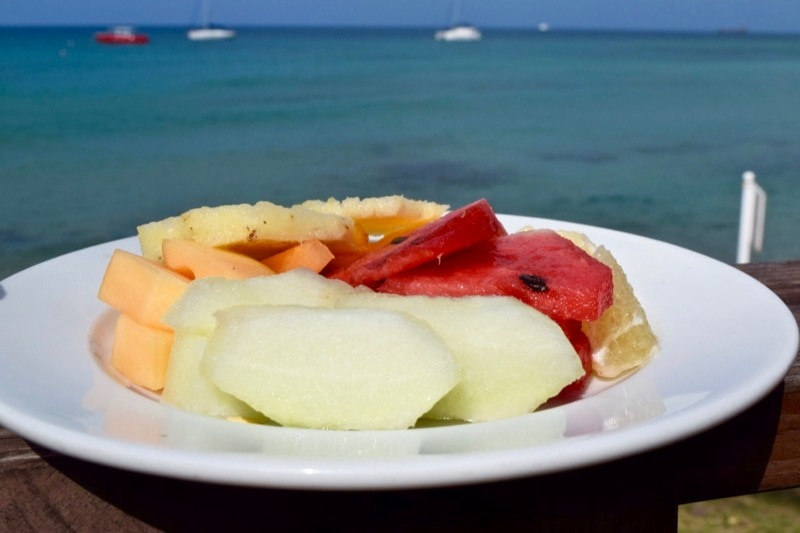 Breakfast at Timothy Beach Resort, St Kitts