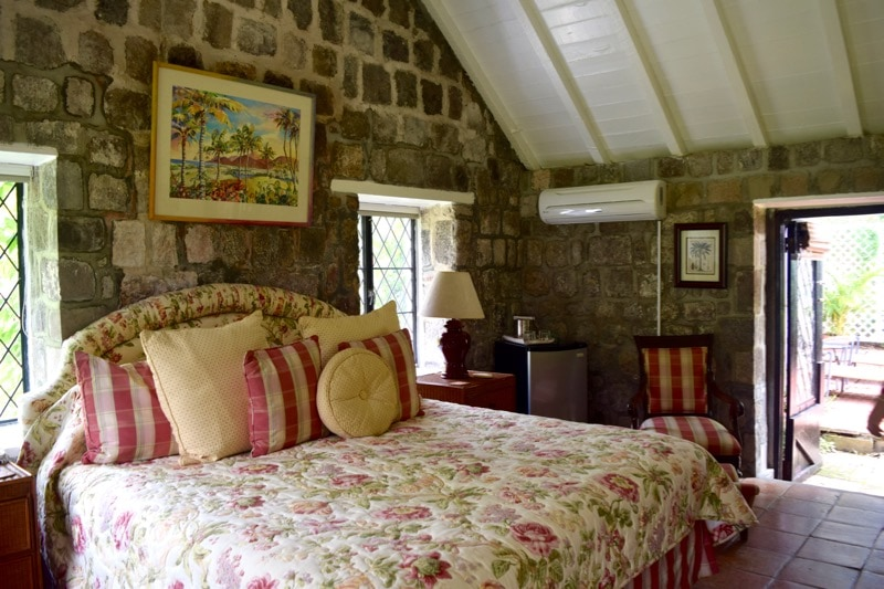 Cottage bedroom at Ottley's Plantation Inn, St Kitts