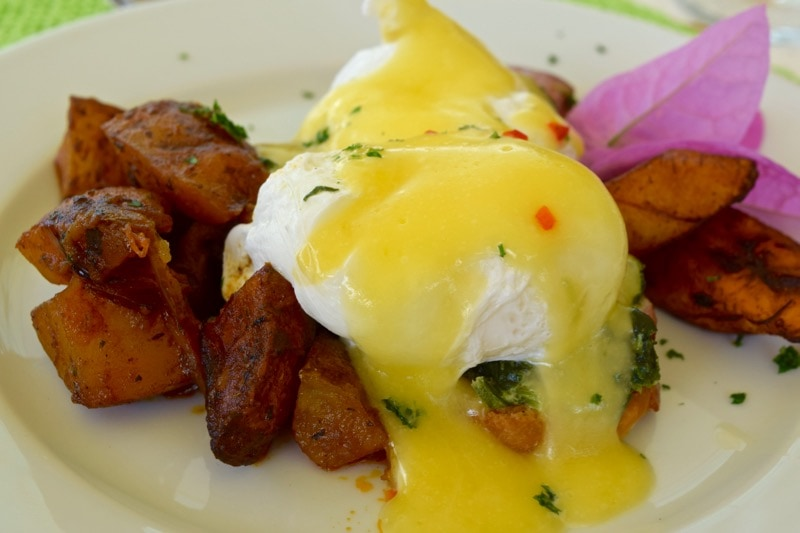 Delicious brunch at Ottley's Plantation Inn, St Kitts