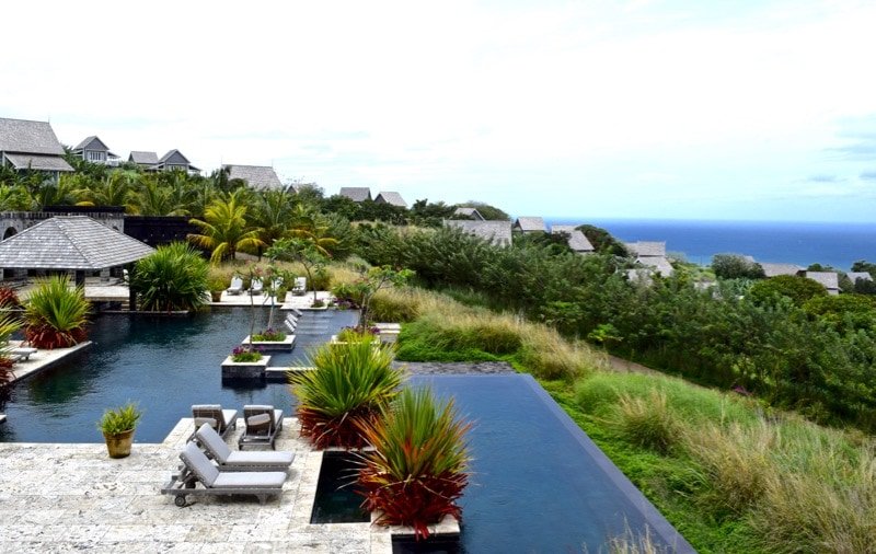Swimming pools at Belle Mont Farm, St Kitts