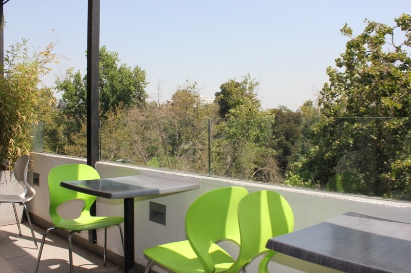 Balcony area at Su Merced Hotel, Santiago, Chile