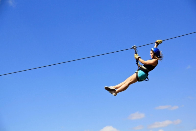 Ziplining in Argentina
