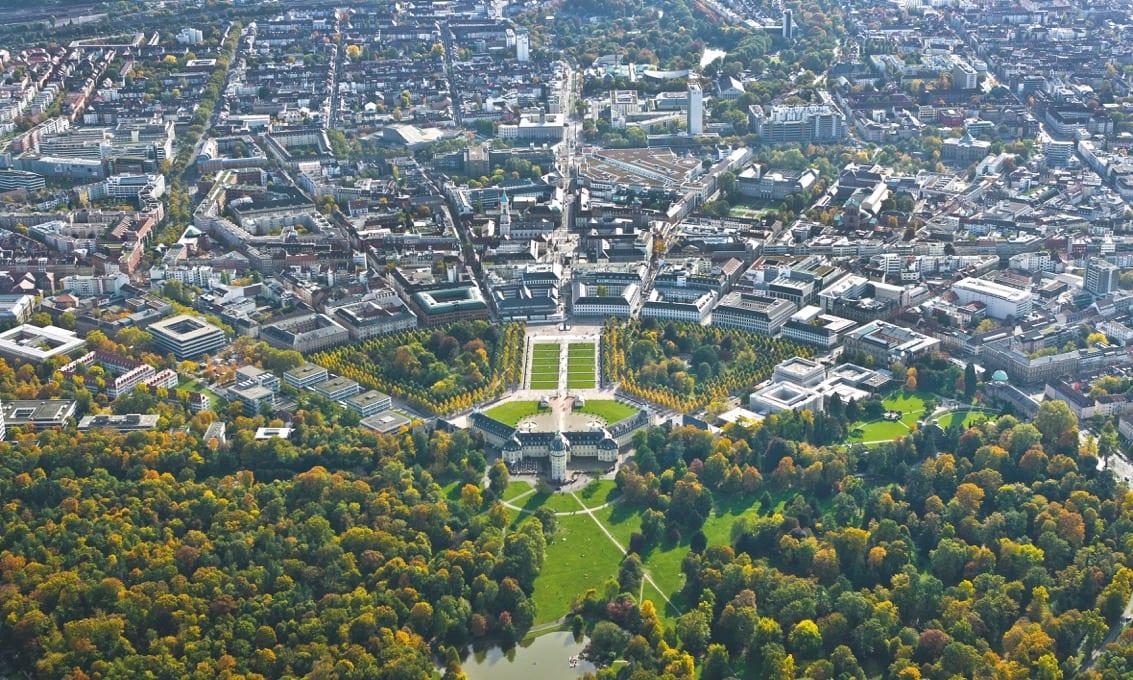 Aerial view of Karlsruhe (Photo: Karlsruhe Tourismus GmbH)
