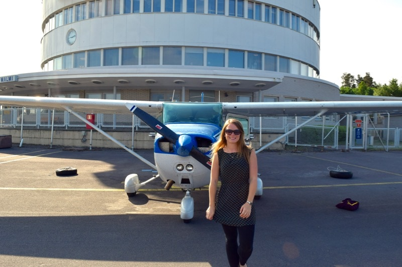 Ready to fly at Malmi Airport