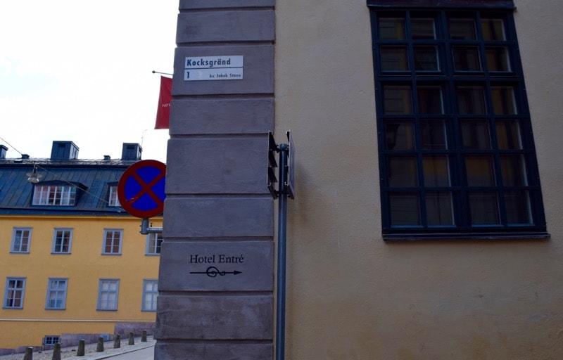 Hotel Kungsträdgården on Kocksgränd, Stockholm