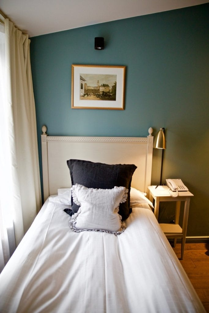 Single room in the 'loft' Hotel Kungsträdgården Stockholm