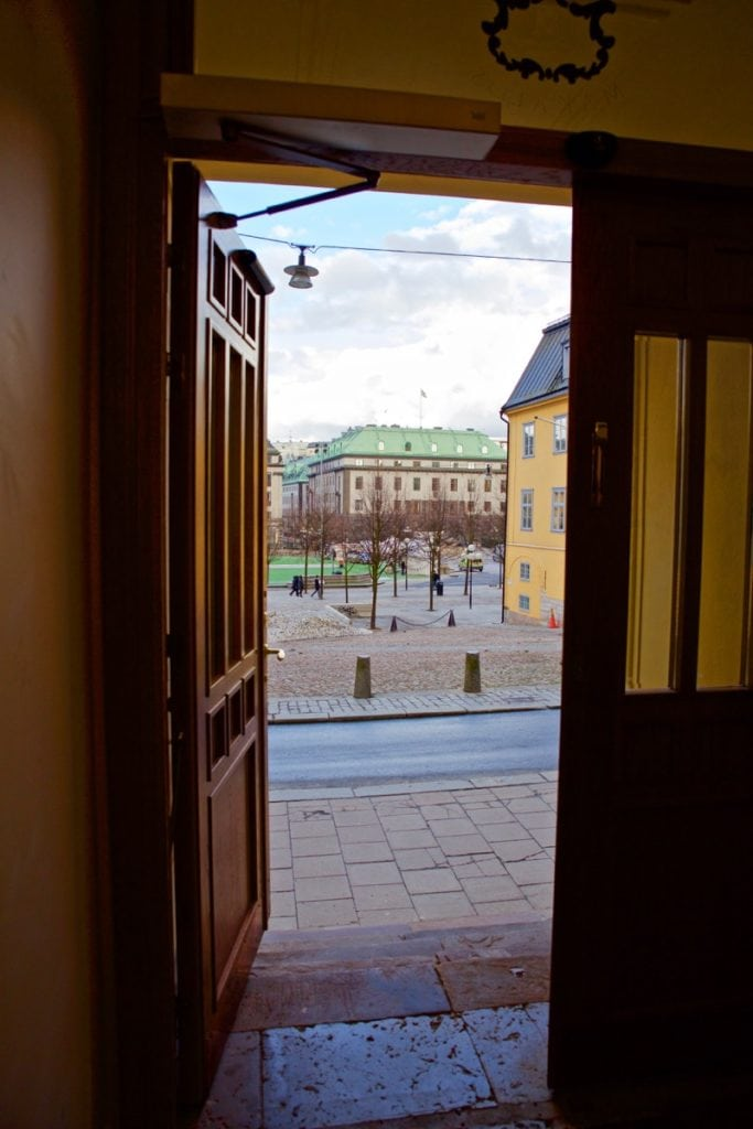 Looking out to Kungsträdgården, Stockholm