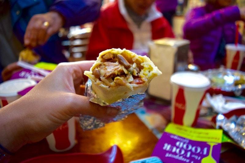 The Mission Burrito at Taqueria La Cumbre, Mission District Food Tour, San Francisco