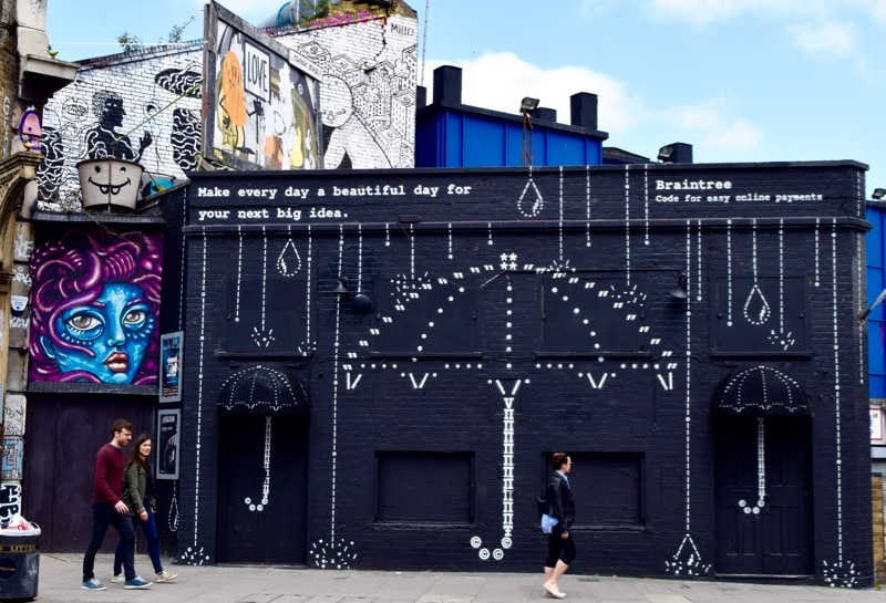 Advertising or street art? Sidestory Street Art Tour, London