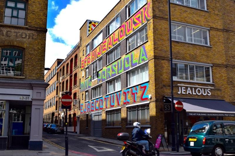 Ben Eine, Shoreditch street art tour