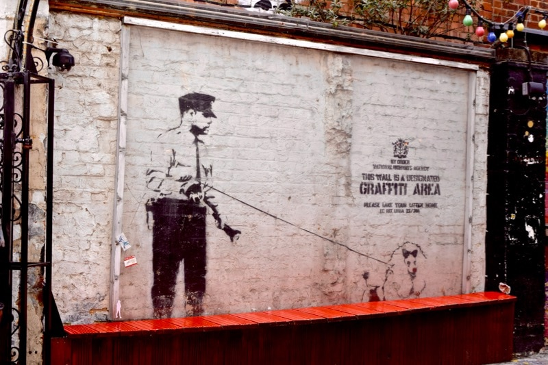 Banksy on Rivington Street - Sidestory Street Art Tour, London