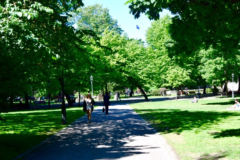 Wandering through Helsinki's parks
