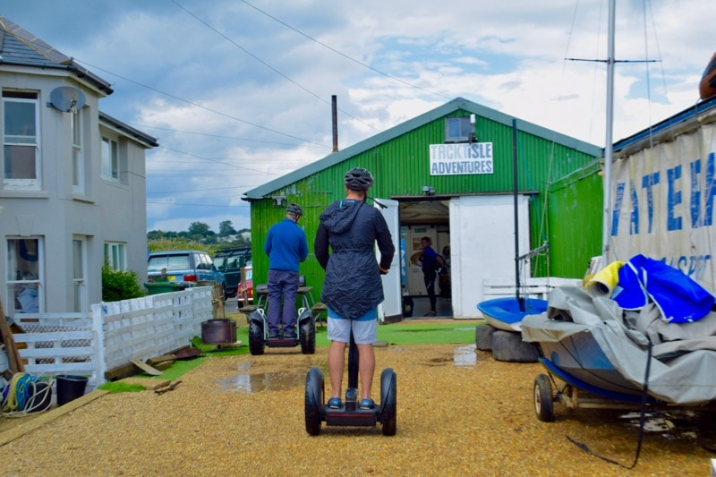 Segwaying at Tackt-Isle Adventures, Isle of Wight