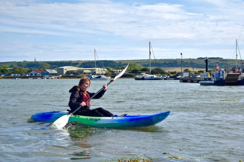 Kayaking at Tackt-Isle Adventures, Isle of Wight