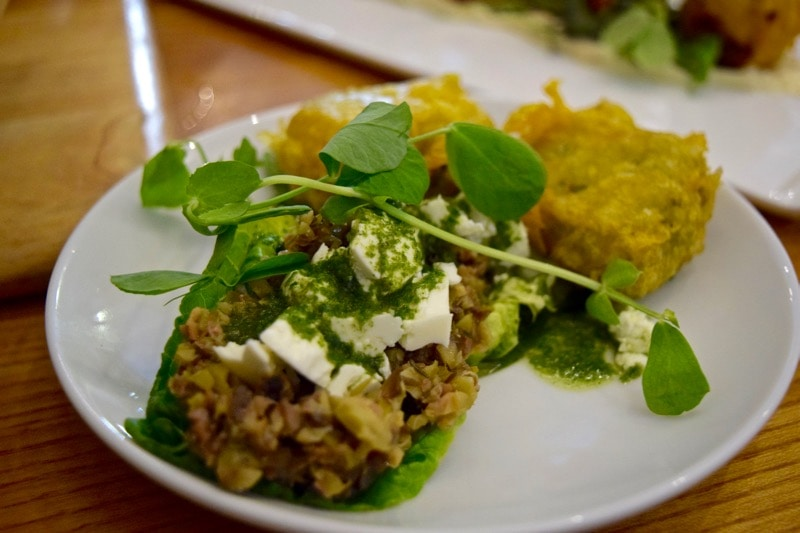 Pea fritters at The Shed, Bembridge, Isle of Wight