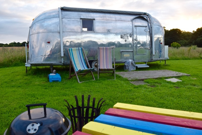 Our Airstream at Vintage Vacations, Isle of Wight