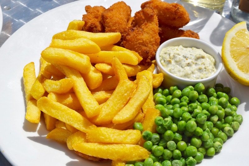 Scampi and chips at The Seaview Hotel Restaurant
