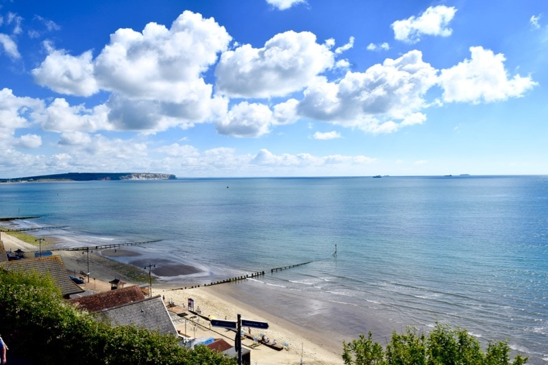 View of Shanklin Beach, Isle of Wight - one of the top places to visit on the Isle of Wight