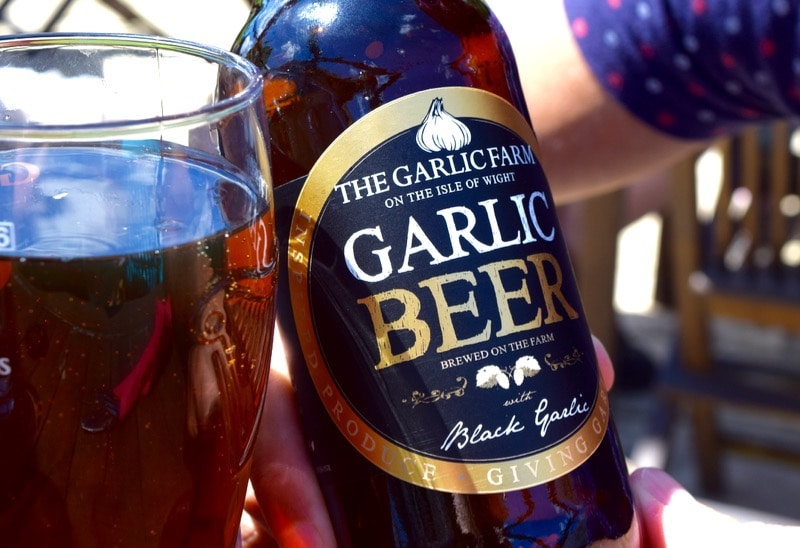 Garlic beer at The Garlic Farm, Isle of Wight