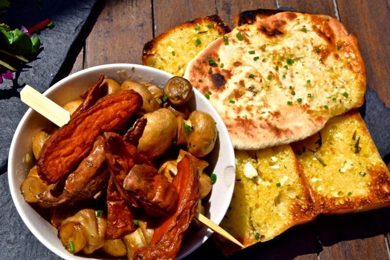 Food at The Garlic Farm, Isle of Wight