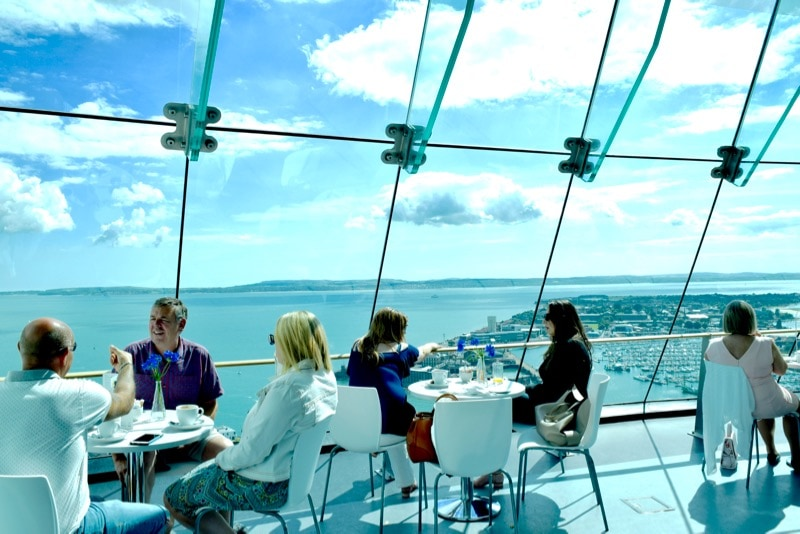 Views from the Spinnaker Tower cafe, Portsmouth