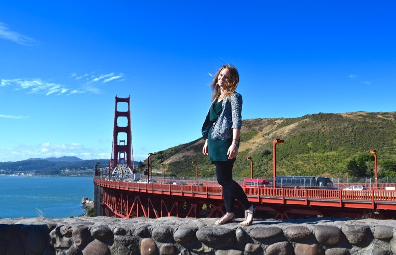 Stopping for a pic at the Golden Gate Bridge, San Francisco