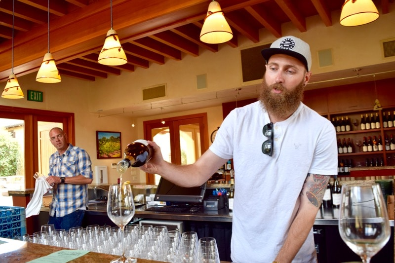 Wine tasting at Nicholson Ranch, Sonoma Valley, California