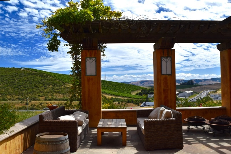 Stunning terrace at Nicholson Ranch, Sonoma Valley, California