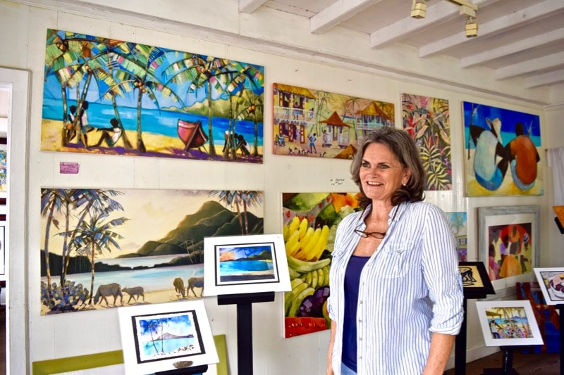 Rosey Cameron at The Gallery Cafe, St Kitts