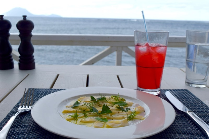 Ceviche at Arthur's Restaurant, St Kitts