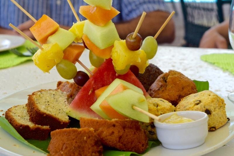Fruit platter at Ottley's Plantation Inn, St Kitts