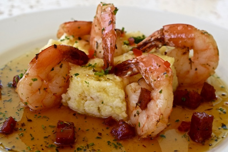 Shrimp and cheese grits at Ottley's Plantation Inn, St Kitts
