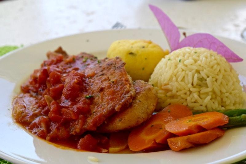Delicious brunch at Ottley's Plantation Inn, St Kitts