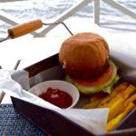 Seafood burger at Arthur's Restaurant, St Kitts