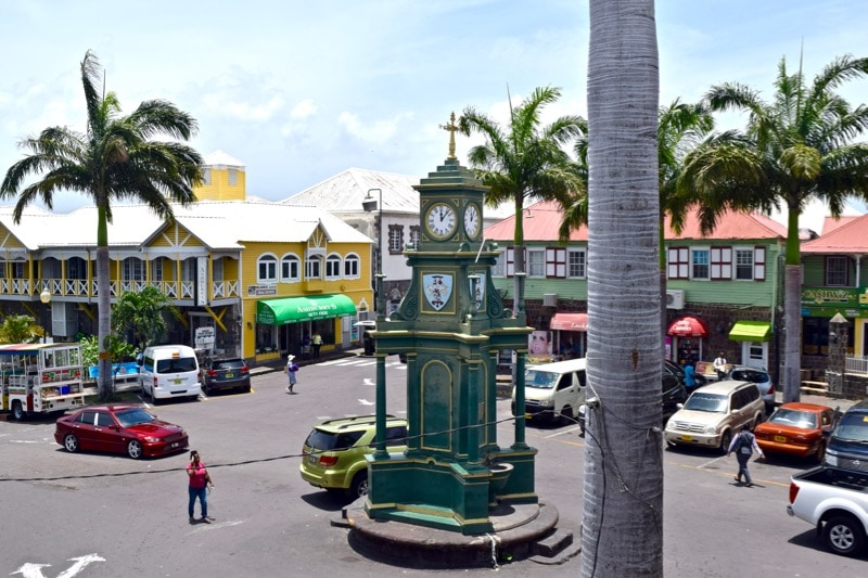 """View of """"Piccadilly Circus"""" from Ballahoo Restaurant, in Basseterre, St Kitts"""