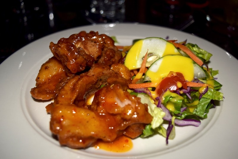 Fried chicken at Spice Mill Restaurant, St Kitts