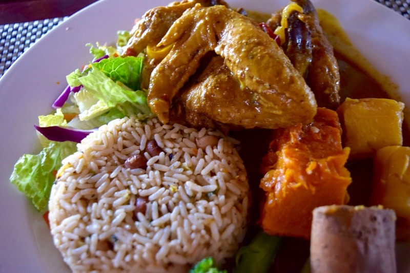 Chicken curry at Boozies, St Kitts