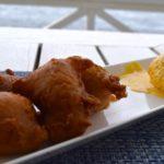 Pumpkin fritters at Arthur's Restaurant, St Kitts