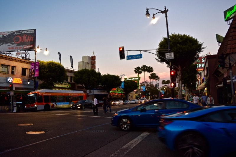 Bright lights of Hollywood, L.A.