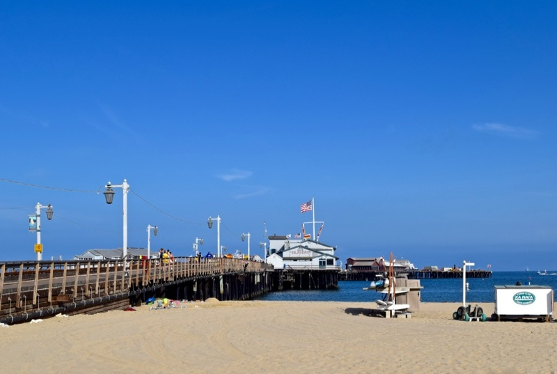 Santa Barbara pier and beach