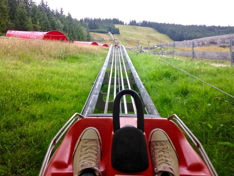 Alpine Coaster at Mehliskopf, Black Forest, Germany