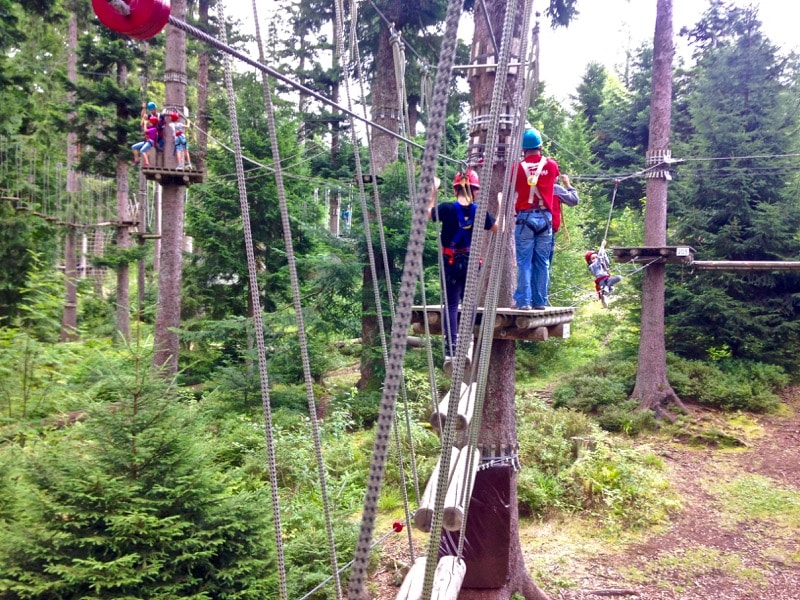 Tree top adventure park at Mehliskopf, Black Forest, Germany