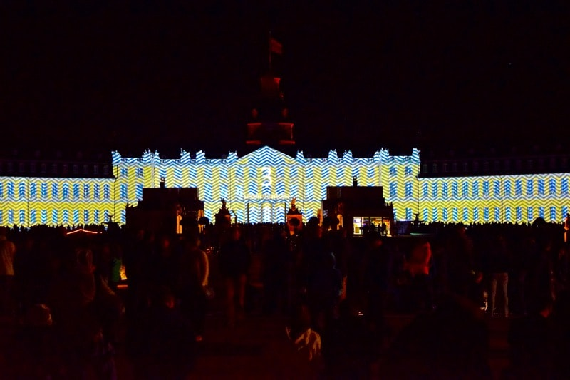 Karlsruhe Palace illuminations, Germany