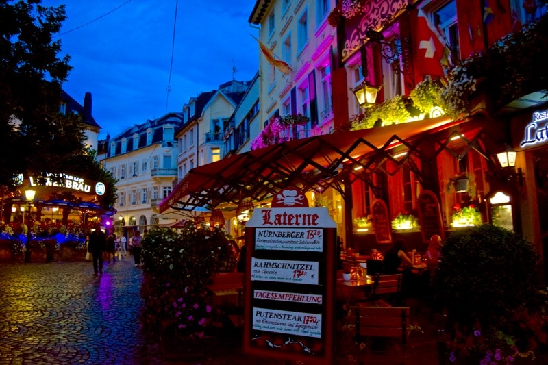 Baden-Baden at night, Germany