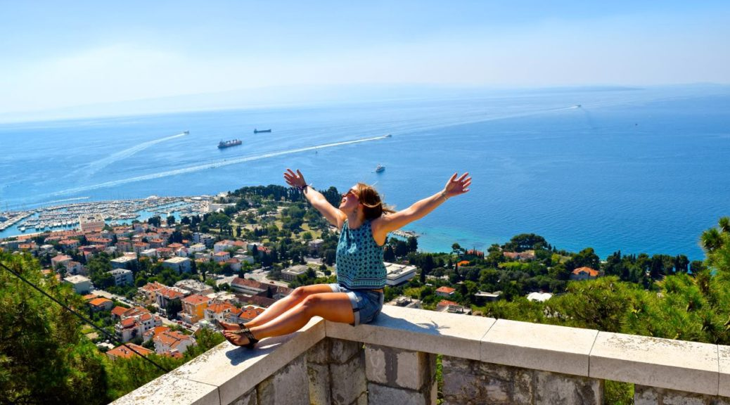 Enjoying the views in Split, Croatia