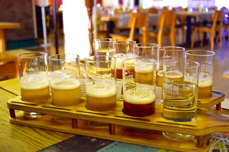 Beer tasting at Bryggeri Helsinki